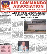 AIR COMMANDO LEGEND ADERHOLT HONORED WITH FITNESS ...