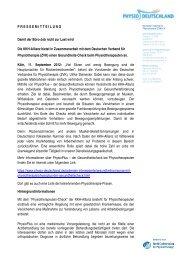PhysioPlus - der Gesundheitscheck beim Physiotherapeuten - ZVK