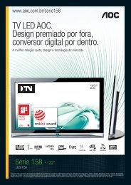 TV LED AOC. Design premiado por fora, conversor digital por dentro.