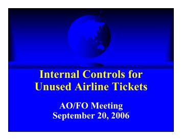 092006 Internal Controls For Unused Airline Tickets