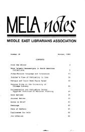 Winter 1983 - Middle East Librarians Association