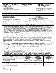 Regence Innova® Medical Plan - Regence BlueShield