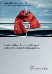 Angebote für Pflege, Werterhalt und Sicherheit von Ihrer Mercedes ...