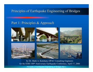 Principles of Earthquake Engineering of Bridges Part 1 - 100th ...