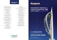Portsmouth Transoral Laryngo-Pharyngeal Laser Course - Olympus