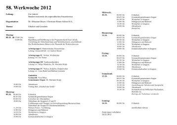 58. Werkwoche 2012 - Ostpreußen.de