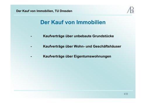 Der Kauf von Immobilien, TU Dresden - Prof-rauch-tu-dresden.de