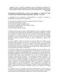 ESTIMATION CONTINUE DE L'ALÉA ET DU RISQUE À ... - Quanterra