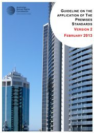 Premises Standards - Australian Human Rights Commission