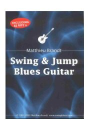 a sample of the PDF file. - Swing Blues and Jump Blues Guitar