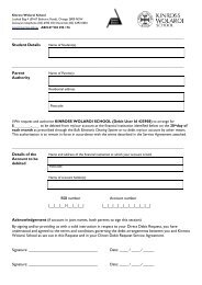 KWS Direct Debit Request Form - Kinross Wolaroi School