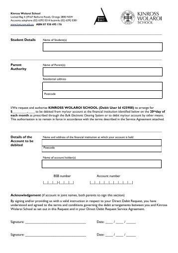Isct Debit Order Form   International School Of Cape Town