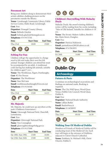 Dublin City - Heritage Week