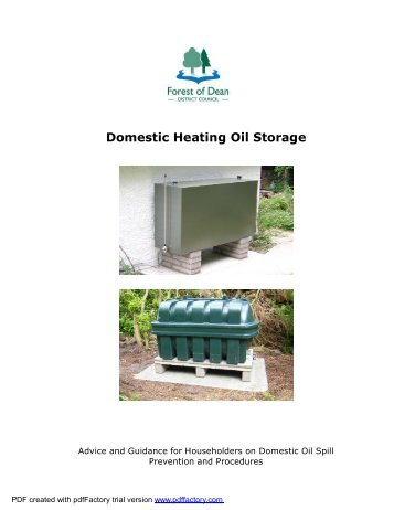 Domestic Heating Oil Storage Guidance - Forest of Dean District ...