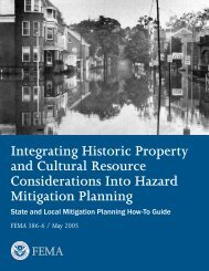 Integrating Historic Property and Cultural Resource Considerations ...