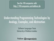 Understanding Programming Technologies by Analogy ... - Index of
