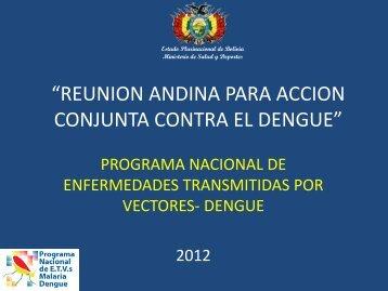 diagnóstico del dengue - Organismo Andino de Salud