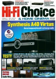 HI FI CHOICE Marzec 2013 – Ayon Spirit III - Eter Audio