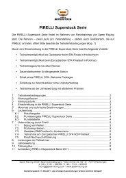 PIRELLI Superstock Serie - Speer Racing