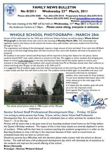 T1 Wk8 - Kinross Wolaroi School