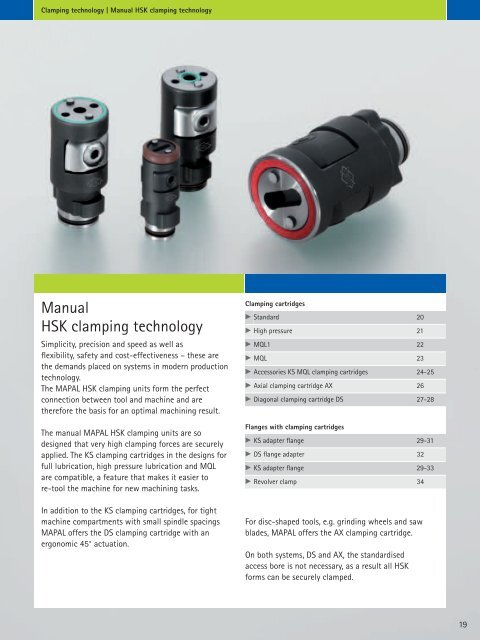 Mapal KS 100-10 HSK-C 100 Clamping Cartridge
