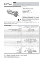 FLUSH DIAPHRAGM PRESSURE TRANSDUCER TECHNICAL DATA
