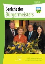 Bürgermeisterbericht Frühjahr 2007 - Gemeinde Wieselburg-Land