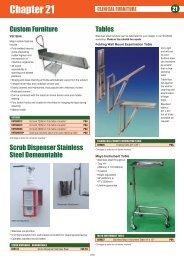 Custom Furniture - Veterinary Instrumentation