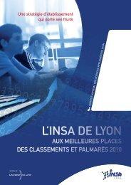 Le classement des écoles d'ingénieurs - INSA de Lyon