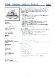 Paladin Transducers 250 Series Class 0.5 - Farnell