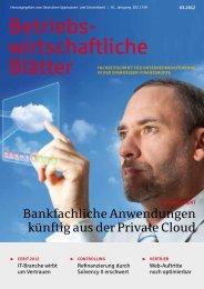 Strategische Gesamtbanksteuerung - Sparkassenzeitung