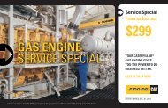 View Gas Engine Service Special Brochure