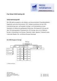 Fact Sheet OVB Holding AG - Jobboerse.de