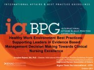 Healthy Work Environment Best Practices: Supporting ... - IUPUI