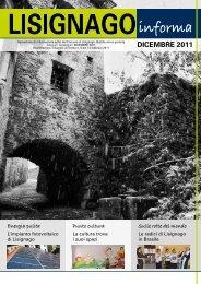DICEMBRE 2011 - Comune di Lisignago