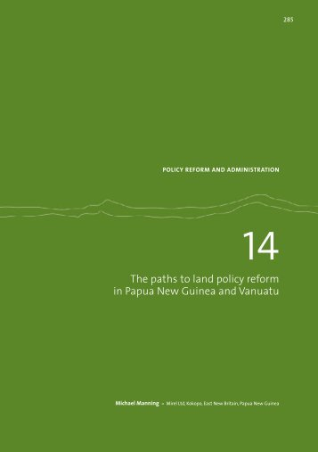 The paths to land policy reform in Papua New Guinea and ... - AusAID