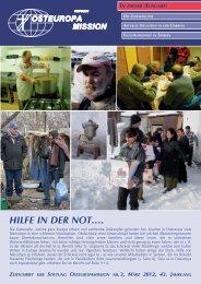 Hilfe in der not…. - Osteuropamission Schweiz