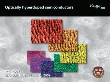 Optically hyperdoped semiconductors