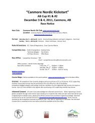 """Canmore Nordic Kickstart"" AB Cup #1 & #2 December 3 & 4, 2011 ..."