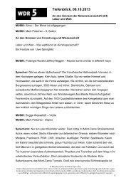 An den Grenzen der Naturwissenschaft (2/4): Labor und welt - WDR 5