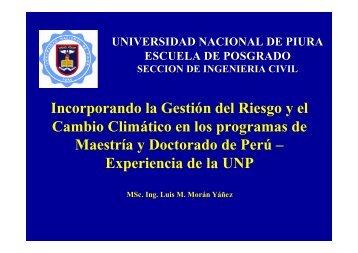 Incorporando la Gestión del Riesgo y el Cambio Climático en los ...