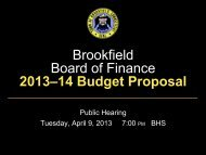 Brookfield Board of Finance 2013–14 Budget Proposal - Town of ...