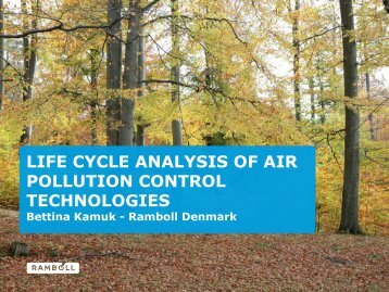 life cycle analysis of air pollution control technologies