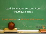 Lead Generation Lessons From 4000 Businesses