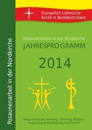 Jahresprogramm 2014 - Posaunenwerk Mecklenburg-Vorpommern