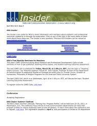 April, 2012, Vol. 3, Issue 2 - National Communication Association