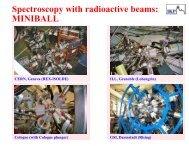 Spectroscopy with radioactive beams: MINIBALL - Achievements ...