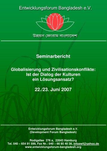 Globalisierung und Zivilisationskonflikte - Entwicklungsforum ...