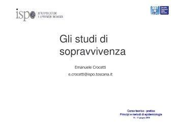 Gli studi di sopravvivenza - Centro per lo Studio e la Prevenzione ...