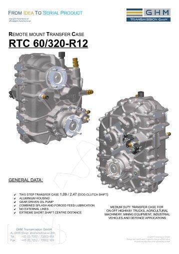 transfer case rtc 60/320-r12 - GHM Transmission GmbH